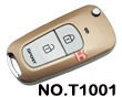 Premium tuhao gold metallizing 2 button modified key shell(for Toyota series)