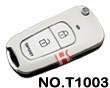 Premium pearl white metallizing 2 button modified key shell(for Toyota series)