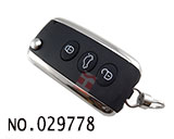 Bentley car 3-button remote control flip key casing HU66