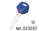 Yamaha Motocycle Transponder Key Shell(Navy blue left slot)