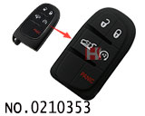 Chrysler,Dodge,Jeep car 5 button smart remote rubber