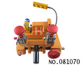 Mini horizontal milling 4-side clamps key cutting machine