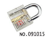transparent practise lock(6 beads)