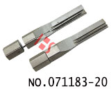 Single row AB standard slot lock open alloy tool blade