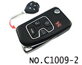 Toyota Camry 4 Button Remote Modified Key Shell (Black)