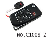 Honda 4 Button Folding Refit Remote Casing-Matte Black