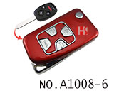 Honda 4 Button Remote Modified Key Shell (Red)