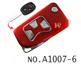 Honda 3 Button Remote Modified Key Shell (Red)
