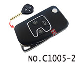 Toyota Camry 3 Button Remote Modified Key Shell (Black)