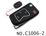 Honda 3 Button Folding Refit Remote Casing-Matte Black