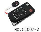 Honda 3 Button Remote Modified Key Shell (Black)