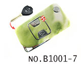 Toyota Camry 2 Button Folding Refit Remote Casing-Emerald green