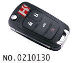 Chevrolet Cruze,Buick Excelle,New LaCrosse 4 button flip remote key HU100