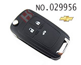 Chevrolet Cruze / Excelle 3 button remote key(315MHZ) HU100