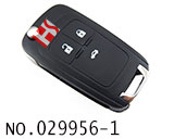 Chevrolet Cruze,Excelle,Opel car 3 button remote flip key(433MHZ) HU100