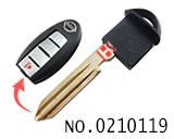 Smart key blade for nissan car smart key(can be put chip)