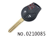 Nissan March,Sunny car 2 button remote chip key(433MHZ)