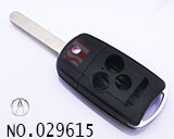 Acura 4 button remote folding key shell