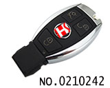 3 button smart remote key for Benz HU64