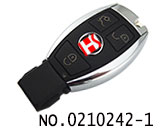 3 buton  smart remote key for Benz HU64