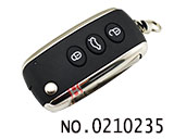 Bentley 3 Button Folding Remote Key Shell HU66