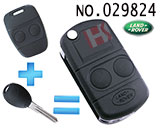 Land Rover 2-button remote control refit folding key
