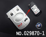 Buick 4-button remote rubber/replaceable pad