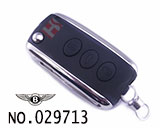 Bentley 3-button folding remote key HU66