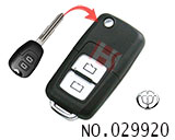 Chunghwa FRV,Coupe car 2 button modified folding key shell