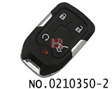 GMC car 4+1 buttons smart remote key shell(Giving a small key)