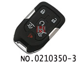 GMC car 6 buttons smart remote key shell(Giving a small key)