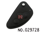 Alfa Romeo 3 Button Modified Flip Key Shell SIP22