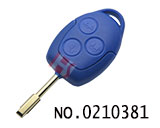 Ford 3 button car remote key shell (Blue, No LOGO)