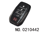 Toyota 5 button smart remote control key shell (bilateral+tail door) without logo