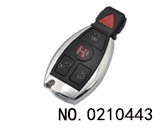 Mercedes-benz Auto 4-button Smart Remote Key Shell with BGA particularly